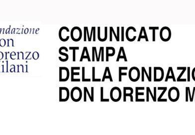COMUNICATO STAMPA DELLA FONDAZION  DON LORENZO MILANI