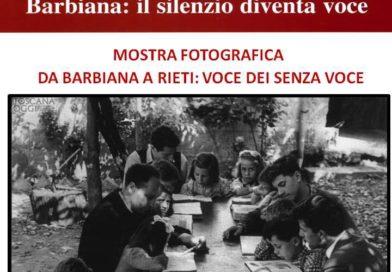 La mostra fotografica : BARBIANA – IL SILENZIO DIVENTA VOCE a Rieti dal 2 ottobre p.v.